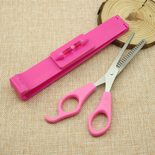 2016 2pcs/set New DIY Trimmer Tools Makeup Style Hair Cutting Guide Layers Bang Hair Clipper Scissors Comb Fringe Cut Women