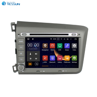 YESSUN Android Radio Car DVD Player For Honda Civic 2012~2016 Stereo Radio Multimedia GPS Navigation With WIFI Bluetooth AM/FM