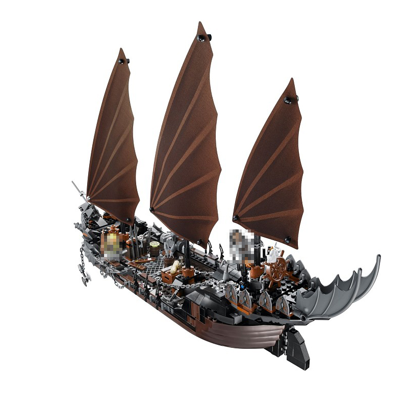 16018 Genuine The lord of rings Series The Ghost Pirate Ship Set Building Block Brick Funny Toys 79008 16018 lepin lord of the rings the ghost pirate ship model building blocks enlighten figure toys for children compatible legoe