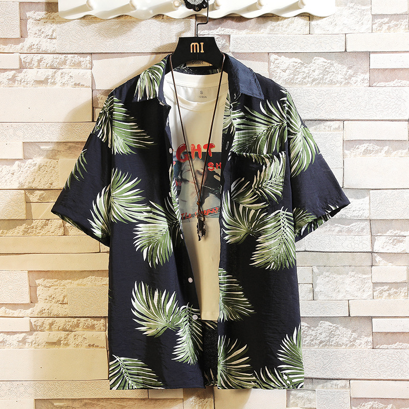 HTB1sIhoUMHqK1RjSZFPq6AwapXap - Print Brand Summer Hot Sell Men's Beach Shirt Fashion Short Sleeve Floral Loose Casual Shirts Plus Asian SIZE M-4XL 5XL Hawaiian
