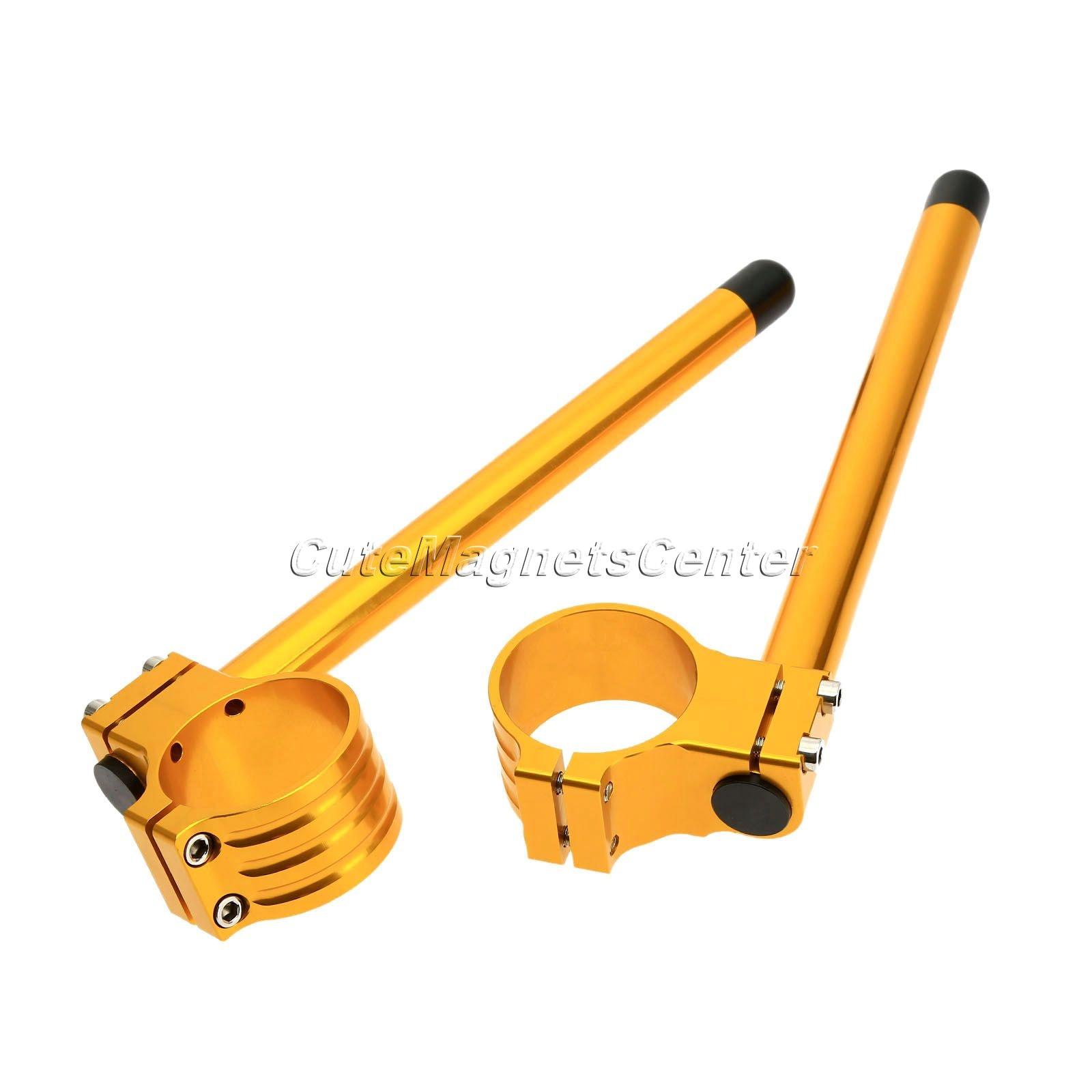 2pcs 36mm CNC Clip on Handlebars Fork Tube For Honda CBR600F 87-90 Gold
