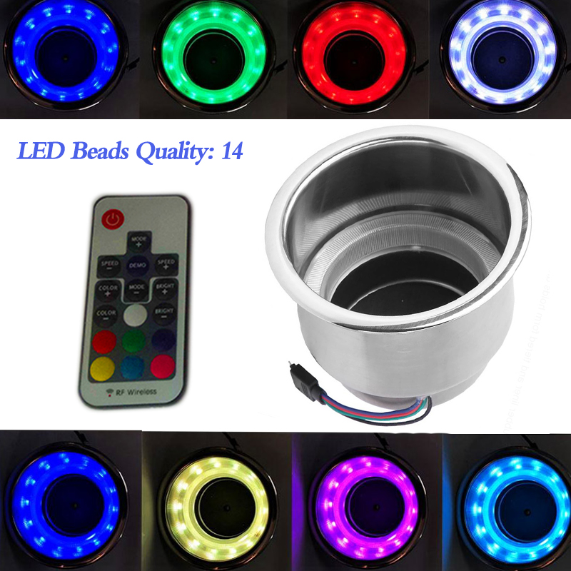 1 Pcs Cup Holder with 3W RGB LED Light For Party Barge Center Console Yacht