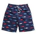 United States Russia European Print Shark Short Leisure Men's Casual Pants Summer Beach Boy Men  Leisure Outing Youth  Shopping