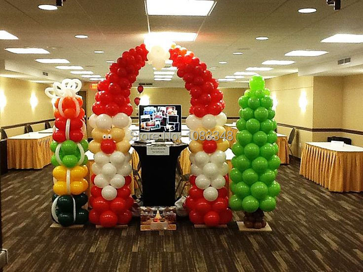 Merry Christmas Party Decorations 100 Pcs 1 5 G Latex Balloons You