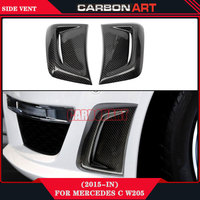 Car Performance Auto Parts Carbon Fiberfront Bumper Side Air Vent For Mercedes C Class W204 2012
