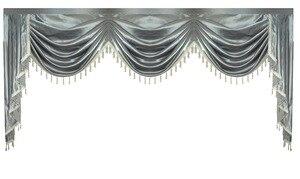 Image 4 - וילון אלאנס שלל Lambrequin עבור סלון אוכל חדר שינה יוקרה סגנון חלון Swag אירופאי רויאל סגנון