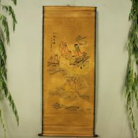 Antieke collectie Boutique Kalligrafie en schilderen de Acht Onsterfelijken crossing de zee diagram