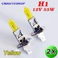 2 PCS H1 Lâmpada Halógena Amarela 12 V 55 W 3000 K Xenon Brilhante Quartz Vidro Do Farol Do Carro Luz de Nevoeiro Auto Lâmpada