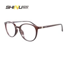 SHINU Anti Blue Light Blocking Progressive Multifocus Reading Glasses Anti-fatigue Eyeglasses for Reader Near Far sight diopter hot sale women reading glasses cat eye bifocal reader progressive multifocal lens diopter eyeglasses for near and far distance