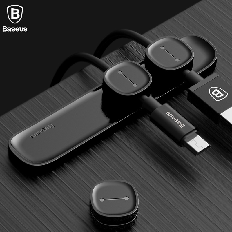 Baseus Brand Magnet Cable Clip USB Cable Organizer For Desktop Workstation Cable Winder Avoid Cable Mess, Simple but Effective