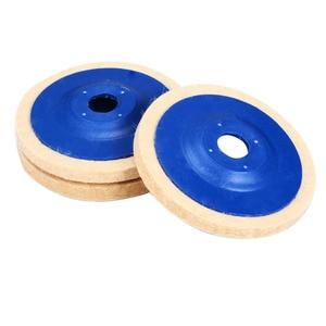 Image 5 - 3pcs 4 Inch Wool Polishing Pads Buffing Angle Grinder Wheel Felt 100mm Polishing Disc Pad Set Useful Abrasive Tools