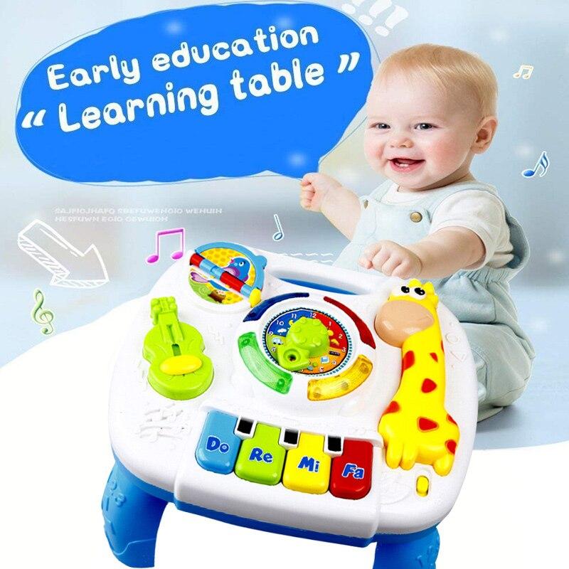 Светодиодный стол для обучения музыки Жираф стол для учебы детей Многофункциональные электрические развивающие игрушки