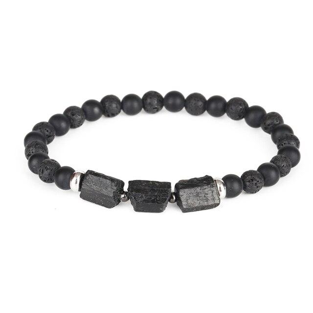 Bracelet Tourmaline Noire Homme