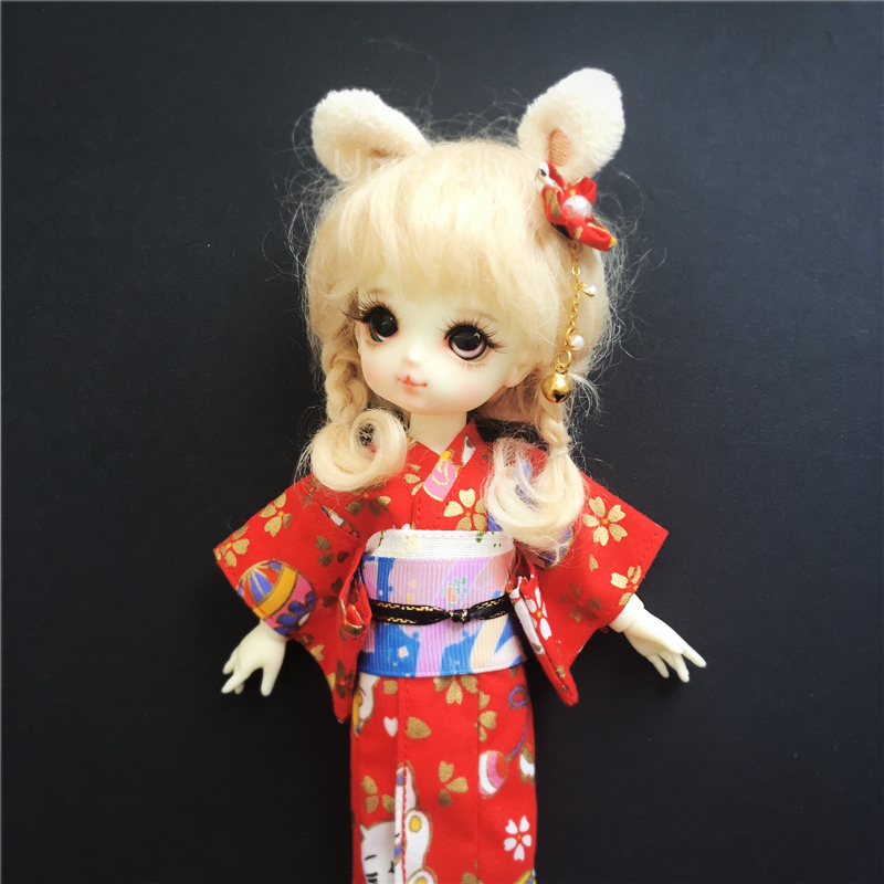 Japanese Style Shirt for 1//6 Blythe Licca Azone Pullip Clothes Accessories