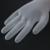 100 unids Desechables Guantes de Látex Sin Polvo para Uso Belleza Hogar Guante de Limpieza Universal Para La Izquierda y la Mano Derecha blanco