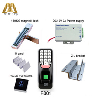 Биометрическая система контроля доступа к двери отпечатков пальцев F801, с 125 кГц RFID считыватель карт ворота управление Лер F801 комплект