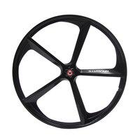 700C wheel Fixed gear bike wheels Rims 5 spokes Magnesium Alloy wheel bike accessories fixie Bicycle Mag TRI front rear wheel|magnesium alloy wheels|700c wheelfixed gear bike wheel -