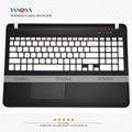 Novo original para sony svf151 svf152 svf153 svf15328 svf15327 svf152a palmrest touchpad keyboard bezel maiúsculas 3phk9phn050