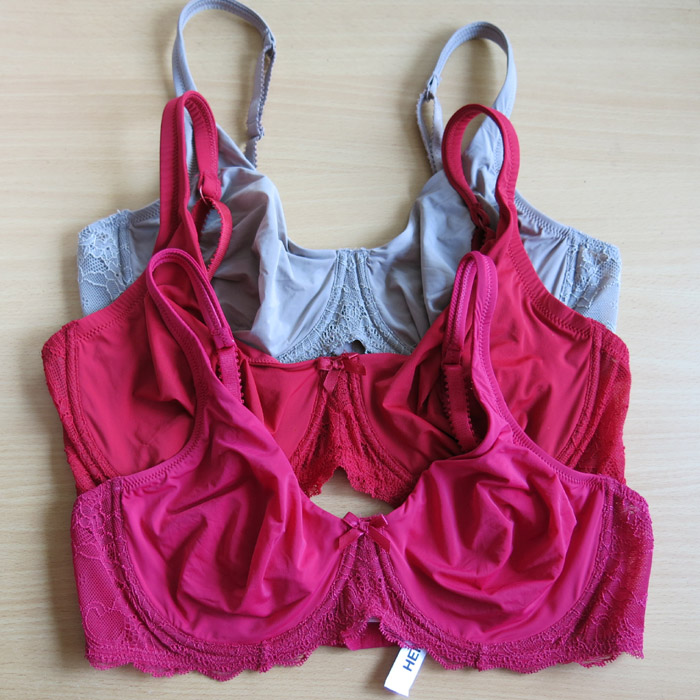 Hema o1 double layer silky lace decoration lace plus size bra ultra-thin 80c85cd90cde95e