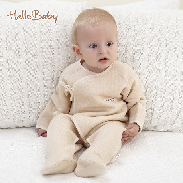 2017 Newborn Baby Infant Rompers Footed Coverall Jumpsuits Clothing
