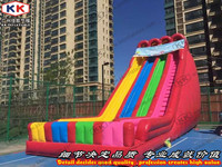 Rainbow Color Bouncy Slides Inflatable