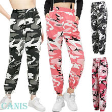 High waist pants camouflage loose joggers women army harem camo pants streetwear punk black cargo pants women capris trousers(China)