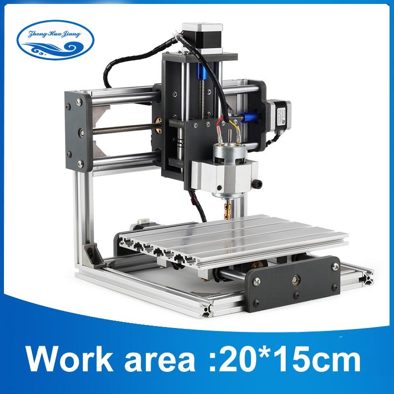 CNC De Bureau bricolage machine de gravure fraisage CNC Imprimante avec GRBL Contrôle, Pcb PVC fraiseuse, espace de travail 20 cm x 15 cm