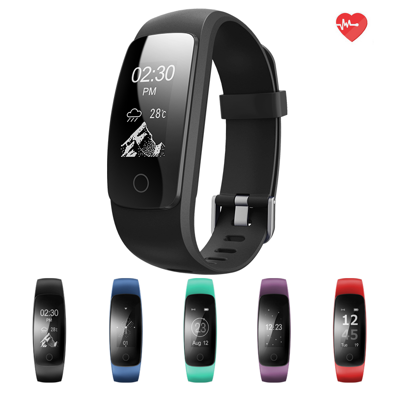 ID107 Upgrade edition Smart Sport Bracelet Fitness Activity Tracker Heart Rate Monitor GPS Tracker Smart Band Watch Wristband