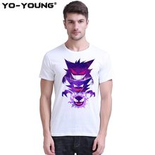 2bbd0be9d POKEMON T Shirts Men Gastly Haunter Gengar Design Digital Printing 100% 180  gsm Combed Cotton Top Tees Short Sleeve Customized