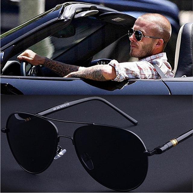 e9d0e0bd6 2019 Luxo Piloto Óculos De Sol Dos Homens Polarizados Condução Shades Retro  Óculos De Sol Para