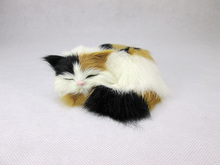 Simulation  cat polyethylene&furs cat model funny gift about 12cmx12cmx5cm