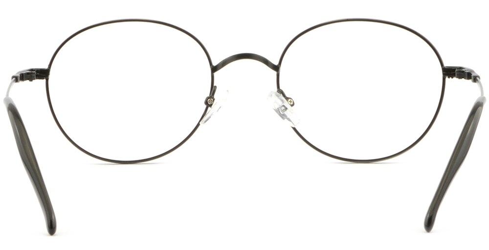 Vollrand Herren Damen Brillengestell Gestell Metall Oval Brille Fassungen Bronze