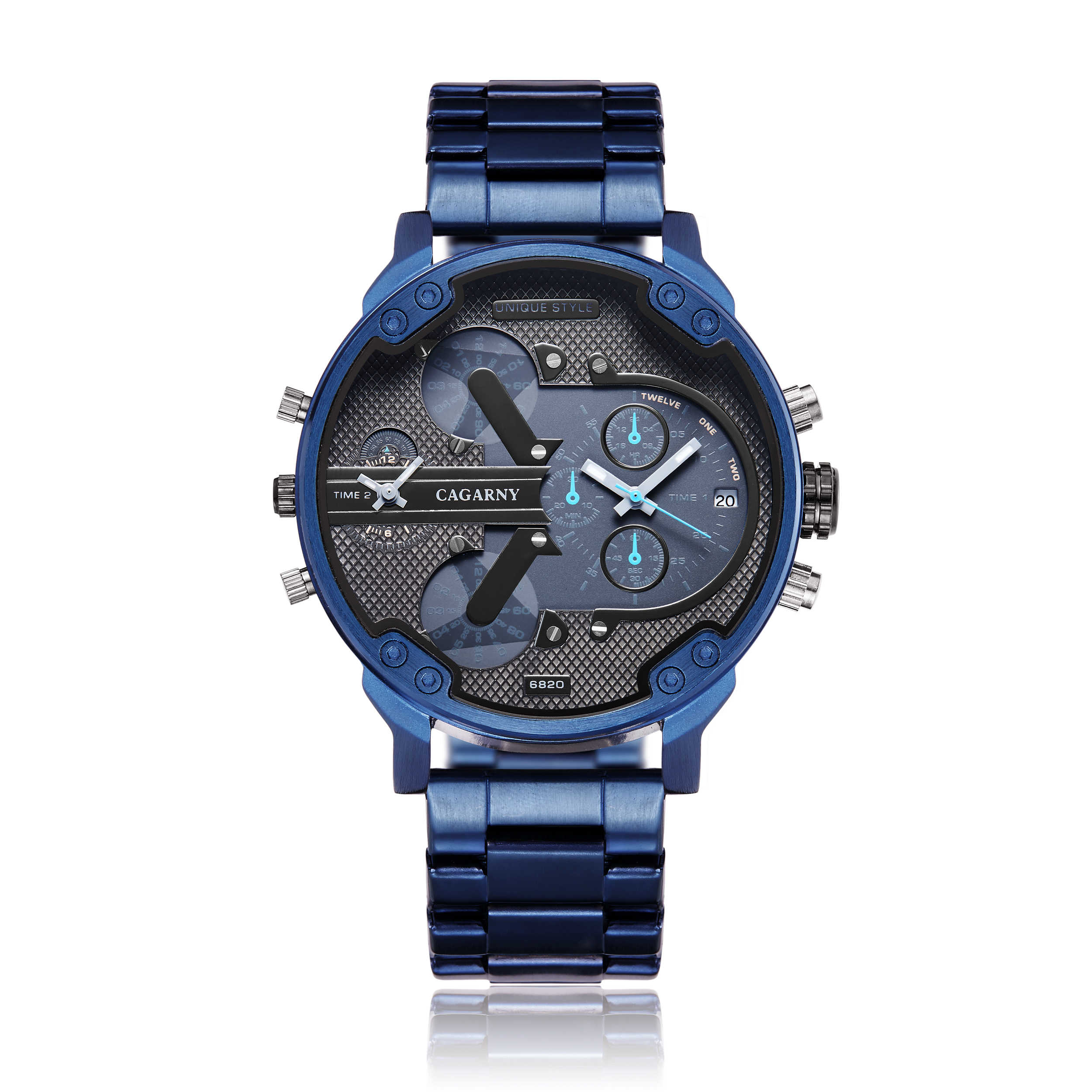 Cagarny Army Military Watches Men Brand Full Blue Steel Watch Quartz Business Watch Mans Clock Relogio Masculino Montre Homme