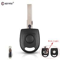 Keyyou transponder chave escudo com chip id48 para vw polo golf para seat ibiza leon para skoda octavia com luz & bateria chave do carro|Chave do carro| |  -