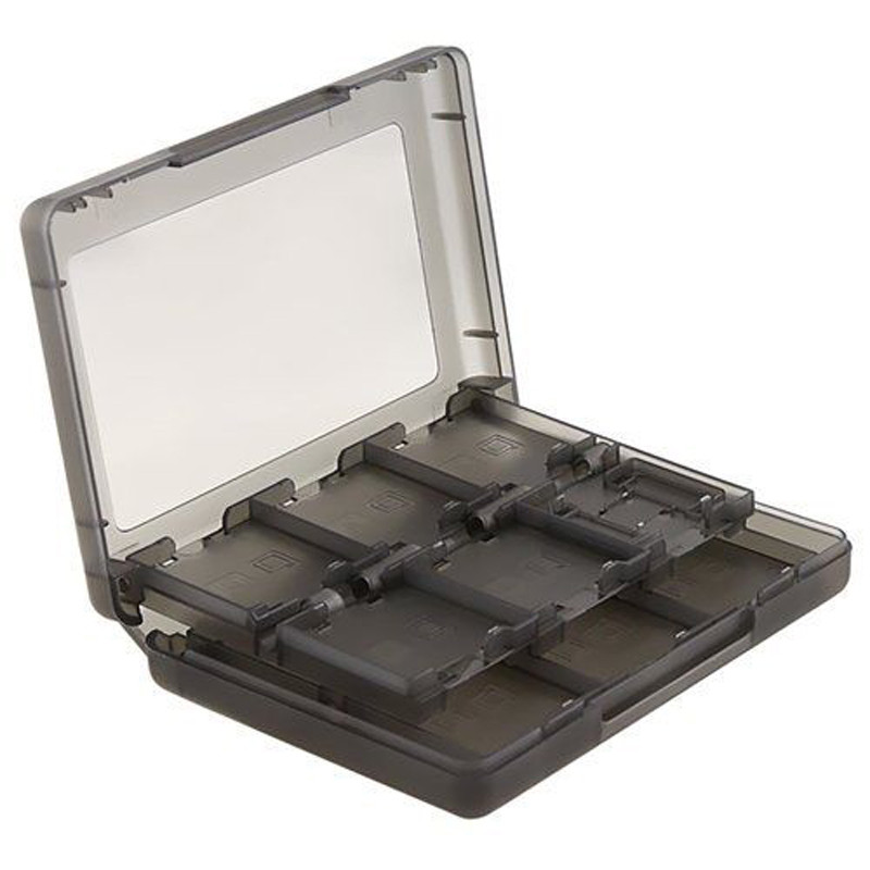 New Arrival 1pc 28 In 1 Game Card Case Black Cartridge Storage Box For Nintendo DS 3DS Mayitr