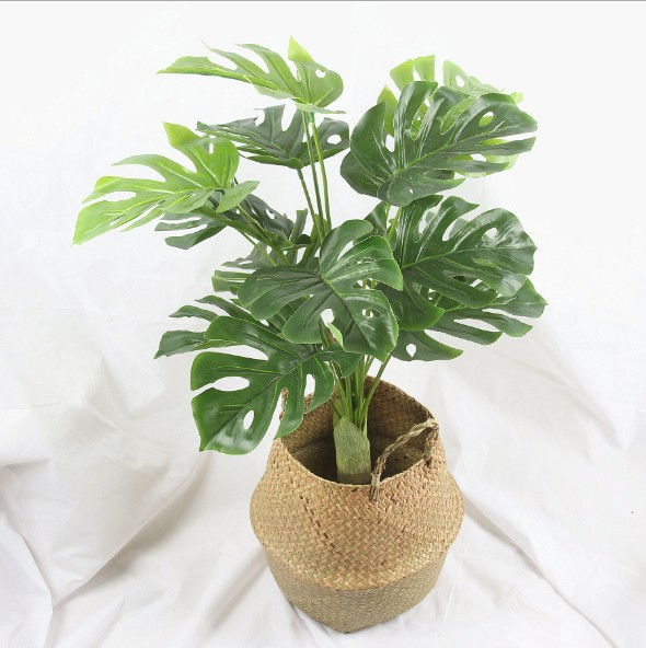 10 Style 85CM Silk Artificial Plant Tree Artificial Green Plant Tree Tropical Fake tree For Home Garden Decoration No pot