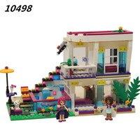 Bela 10498 Friends Series Livi S Pop Star House Building Blocks Andrea Mini Doll Figures Toy