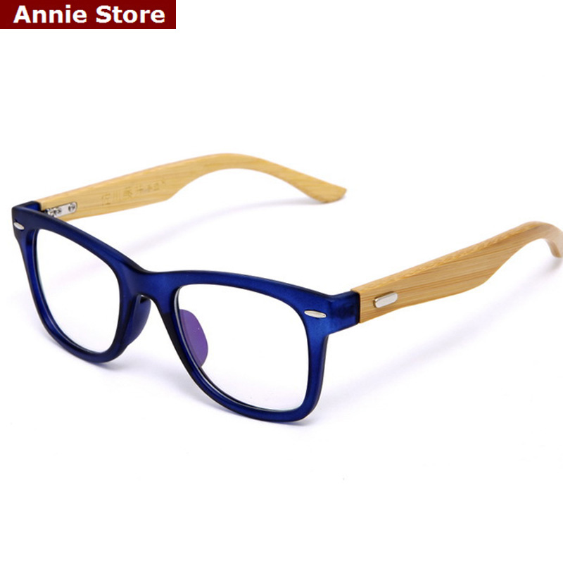 Big Blue Glasses Frames : Peekaboo Bamboo eye glasses frames for women brand ...