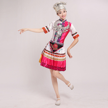 Chinese Folk Dance Costumes Miao Dance Clothing Hmong Clothes Performing Dress