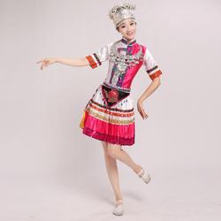 Китайский народный танцевальный костюм Мяо танцевальная одежда хмонг платье для выступлений