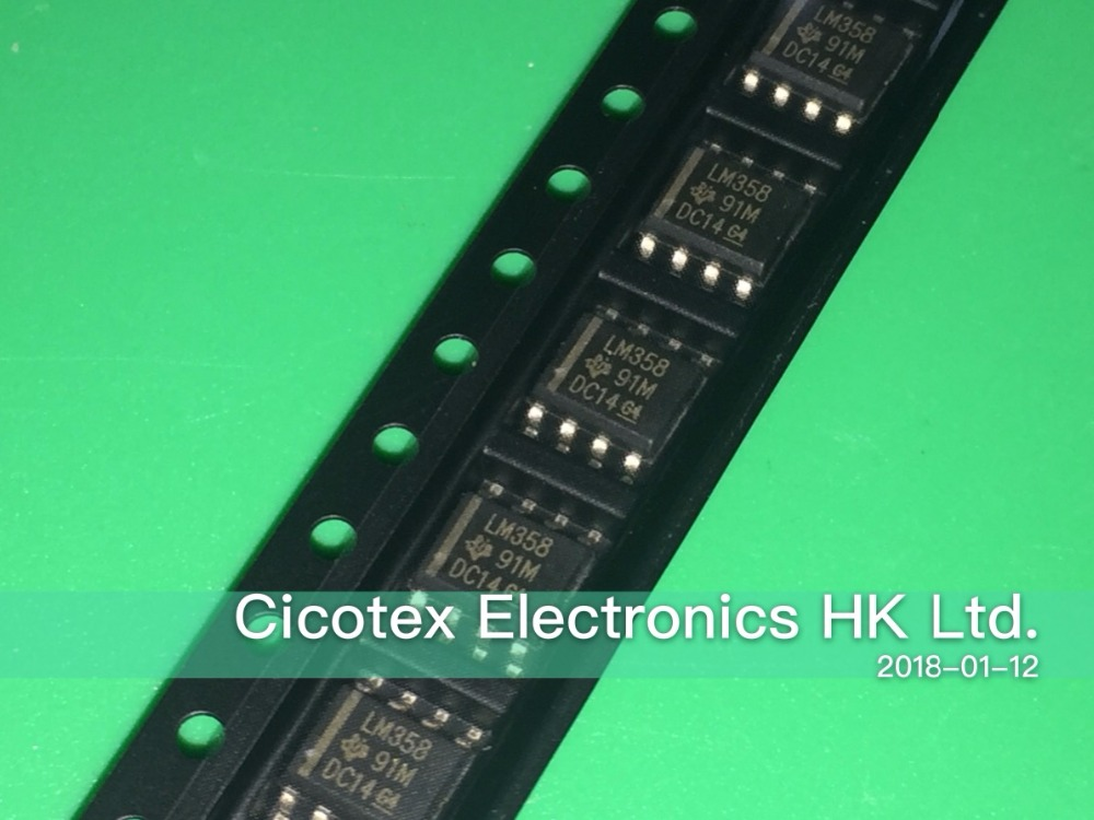 50Pcs LM358 LM358DR SOP-8 SOIC-8 SMD IC TOP CF