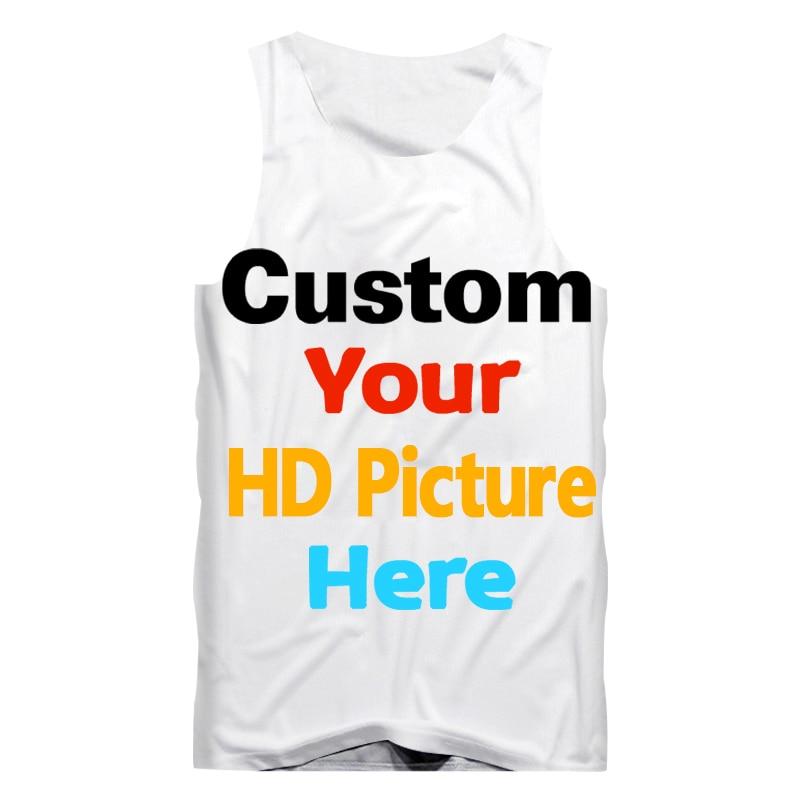 Men's Clothing Original Custom Tank Top Diy Your Brand Logo/own Designed/picture/character 3d Print Vest Men Women Summer Sleeveless Gym Tops&tees 5xl Rapid Heat Dissipation Tops & Tees