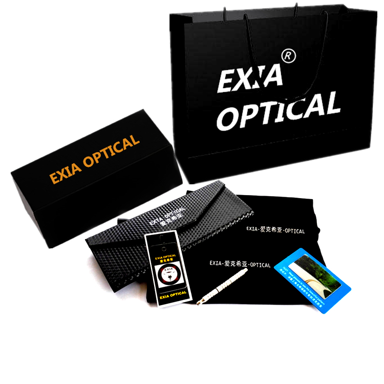 59667a8ca61 Black Glasses Acetate Frame for Men High Quality Spectacle Frames Custom Ophthalmic  Lenses EXIA OPTICAL KD 39 Series-in Eyewear Frames from Apparel ...