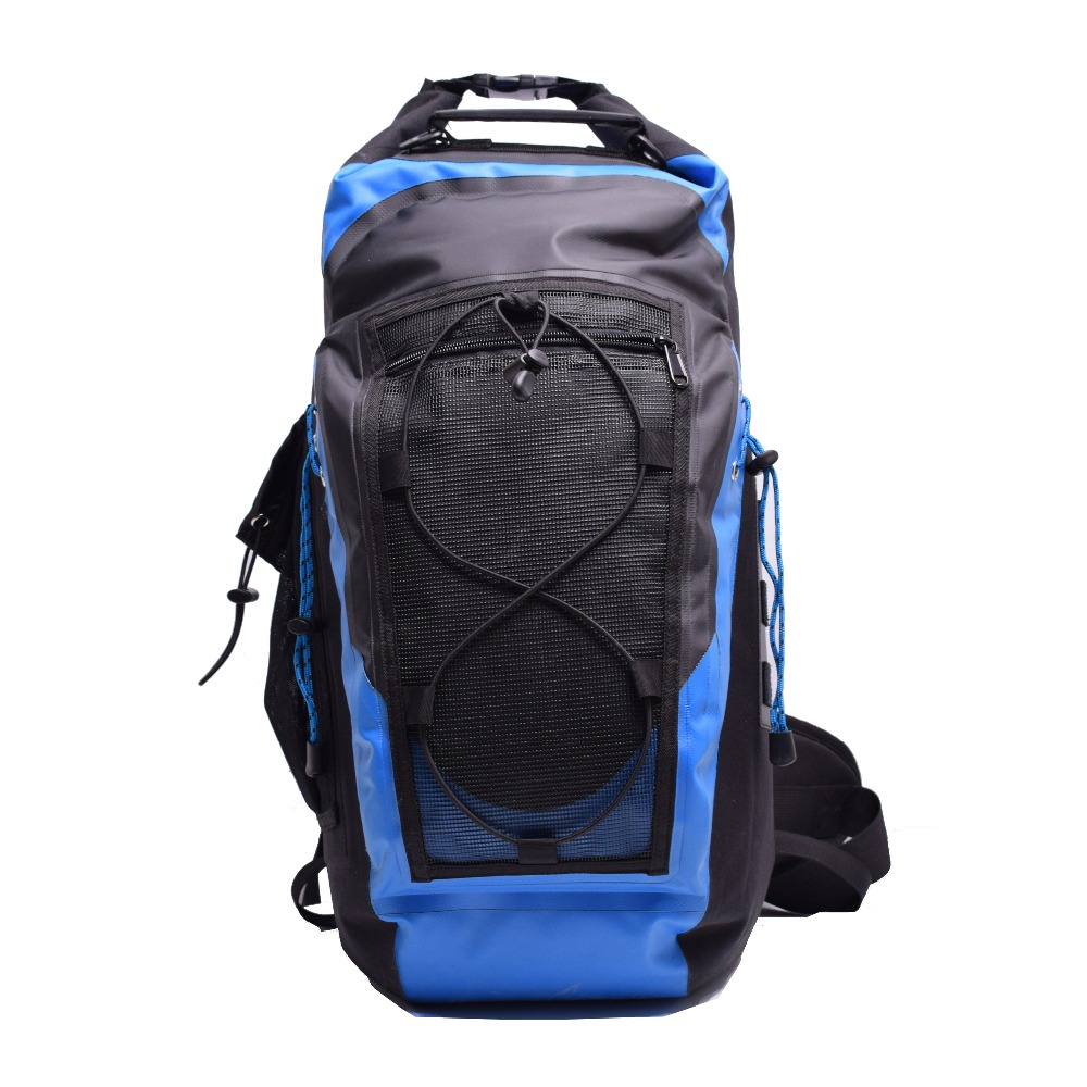 GZLBO 30L Blue Backpack 500D Tarpaulin PVC Unisex Waterproof Dry Bag backpack Travel backpack