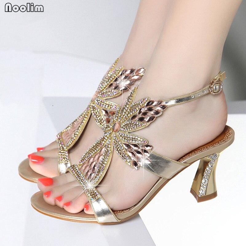 Nueva púrpura Peep Mujer Azul toe Zapatos Boda Verano Tacón Cuero De gold Moda Zapatos Noolim Sexy Sandalias 5qFwzzZ