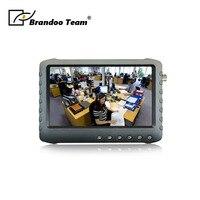 Бесплатная доставка 5 дюймов 108HD ЖК дисплей Портативный CCTV DVR монитор Поддержка HDTVI CVI CVBS AHD видео вход