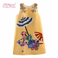 Pettigirl New Fashion Princess Dress Cartoon Pattern Baby Girls Summer Dresses Sleeveless A-Line Kids Clothing GD90316-710F