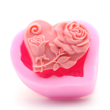 High-end DIY Handmade Soap Mold Heart Rose Love Silicone Classic Fondant Cake Decorating Tools