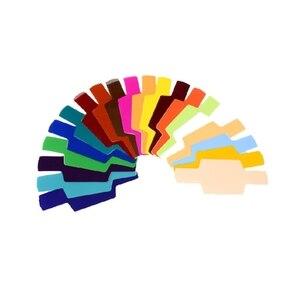 Image 3 - 20 cartões de filtro de gel de cor fotográfica conjunto flash speedlite para canon 10166