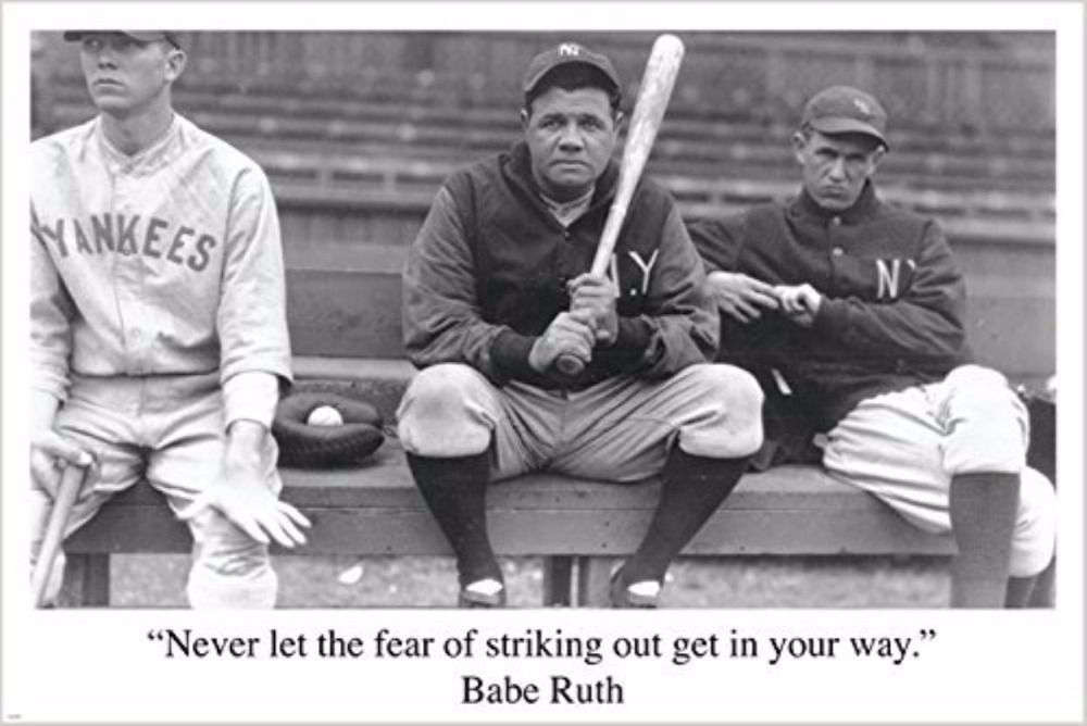 BASEBALL QUOTE Sports Pic Poster RARE HOT NEW One Of A Kin Wall Sticker Custom Poster